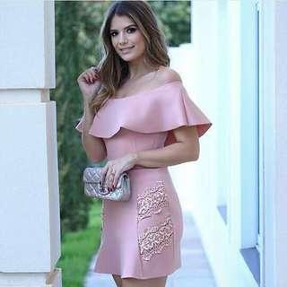 elegant upshoulder dress