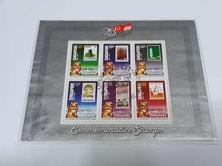Singapore used stamp sheet set.