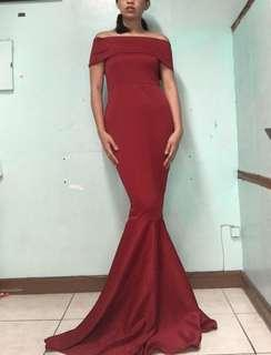 Mermaid long dress evening gown