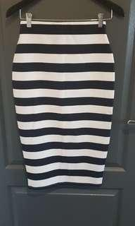The Fifth Label skirt - navy & white