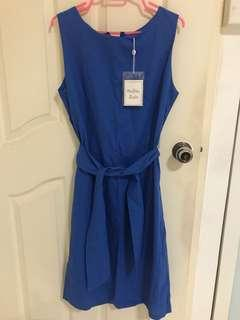Brand blue long dress