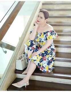 up shoulder dress