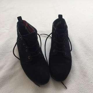 High-Cut Suede Shoes