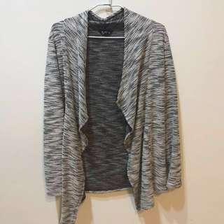 NET灰色條紋外套