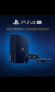 現貨 全新 PlayStation4 5億台紀念限定版 透明藍 港版行貨 PS4 Pro 2TB 500 Million Limited Edition PS 4