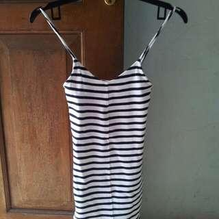 Top shop long tank tops stripe