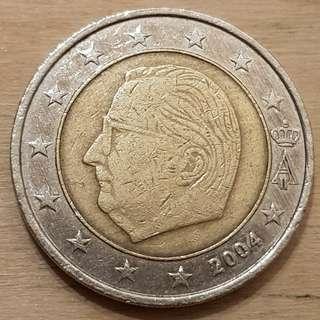 2004 2 Euro Coin Belgium Design