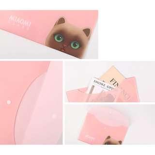 Miaomi Class Button File Folder A4