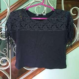 H&M Dark Gray Crop Top