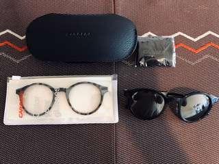 正品全新意大利名牌Carerra 太陽眼鏡一副連可轉換無鏡鏡框一副