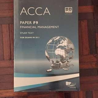 ACCA F9 BPP (Study Text)