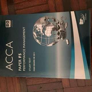 ACCA F5 BPP (Study Text)