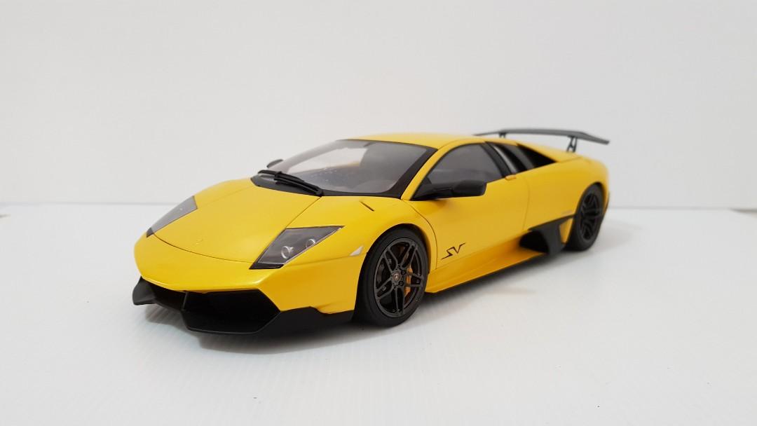1 18 Autoart Lamborghini Murcielago Sv Lp670 4 Giallo Orion