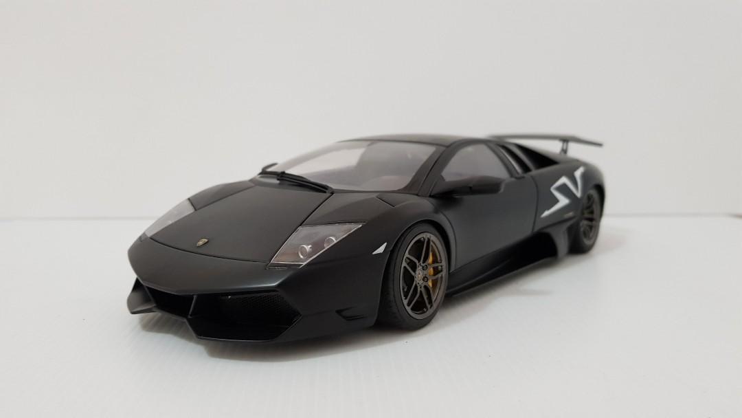 1 18 Autoart Lamborghini Murcielago Sv Lp670 4 Nero Nemesis