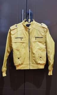 Jaket Kulit Pria (Warna Kuning)