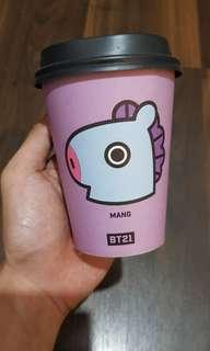 Official BT21 Dunkin Donut Plastic Cup - Mang