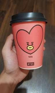 Official BT21 Dunkin Donut Plastic Cup - Tata