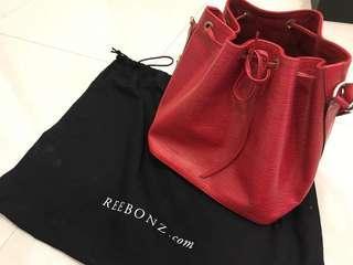🚚 【LV】紅色 EPI 水桶包