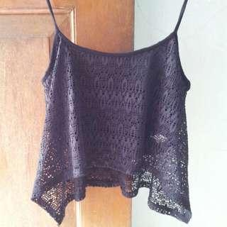 Bershka short tank tops sheer