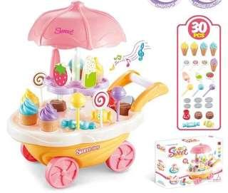 Push cart desert shop play set