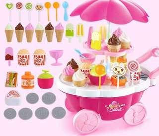 Sweet Ice cream push cart play set