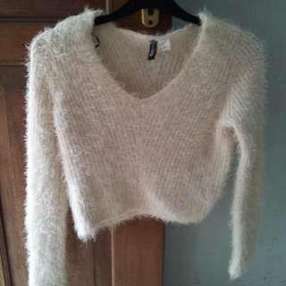 H&M crop top sweater crop tops knit