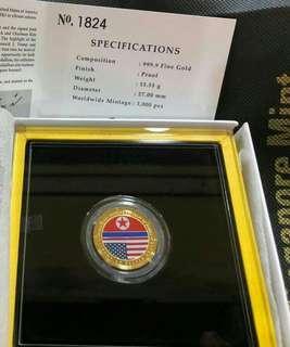 USA-DPRK Summit medallion