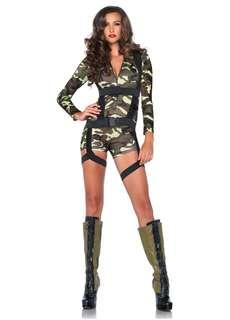Women's military halloween costume small