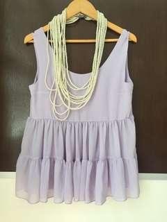 雪紡背心 purple blouse tops 芋紫色背心