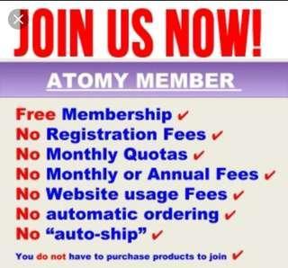 ATOMY Membership FREE