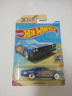 Hotwheels playmouth roadrunner 50th