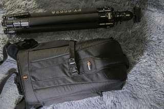 Lowepro Bag with Fancier Tripod