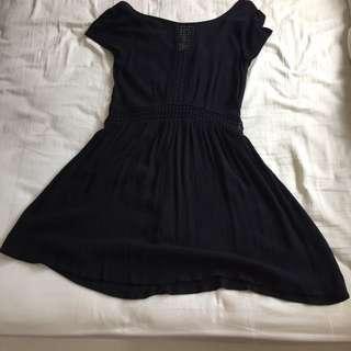 #H&M50 Factorie Black Bohemian Lace Crochet Dress