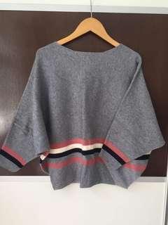 針織上衣 sweater blouse korea 韓服 無毛粒