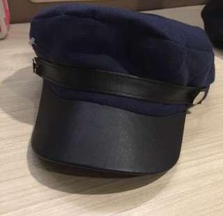 Korean hat dark blue