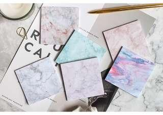 Marble Sticky Note pads/Post its