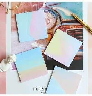 Abstract Watercolor sticky pads/post its