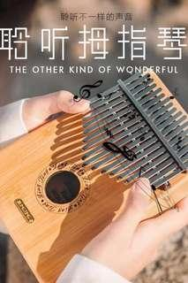 Kalimba / thumb piano with tutorial booklet and freebies (Brand new)