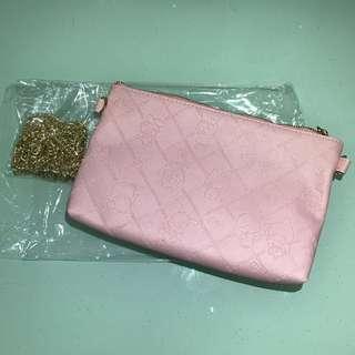 《少女💓大爆發》Sanrio & Friends 粉紅小手袋(附肩鏈轉斜孭)