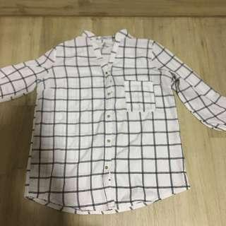 grid blouse/flannel