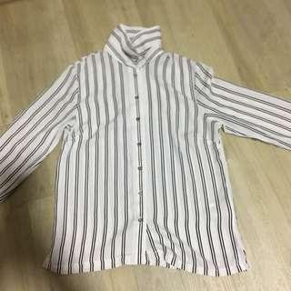 stripe blouse/flannel