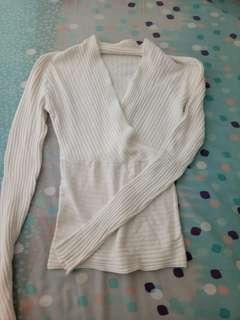 Knit import white