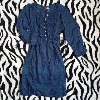 SALE H&M Blue checkered dress