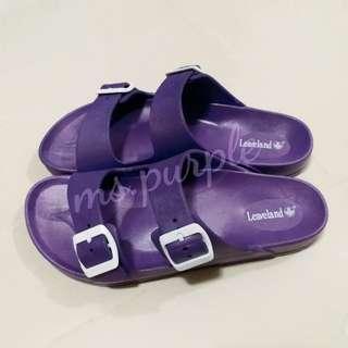 LEAVELAND 深紫色拖鞋