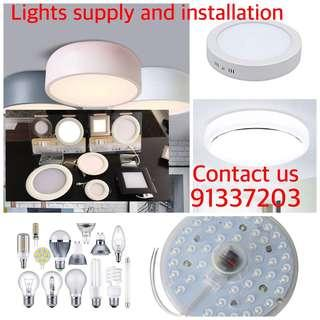 All types of LED Lighting supply and installation services contact us 91337203