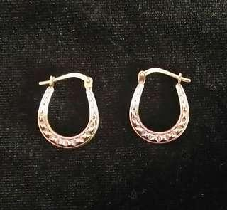 SMALL TWO COLOR HOOP EARRINGS FOR GIRLS