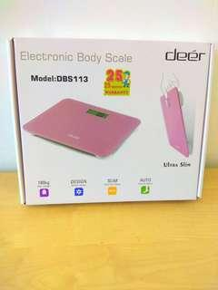 Deer electronic body scale 電子磅 浴室磅 粉紅