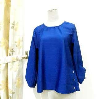 Big Size Blouse Long Sleeve Baju Atasan Wanita Lengan Panjang Oversize Bigsize