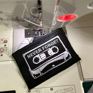 Cassette Tape embroidery payches