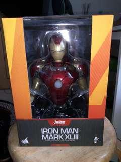 Hot toys Iron man mark 43 發光半身像